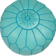 Blue pouffe detail1