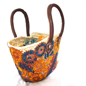 Small Orange wicker basket