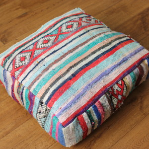 Moroccan Vintage Kilim Floor Cushion