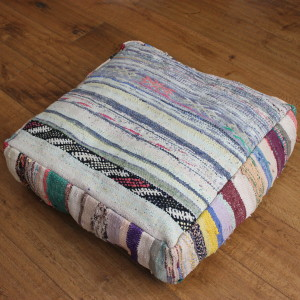 Multicolored Killim Floor Cushion