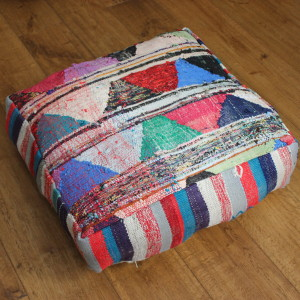 Triangles kilim cushion