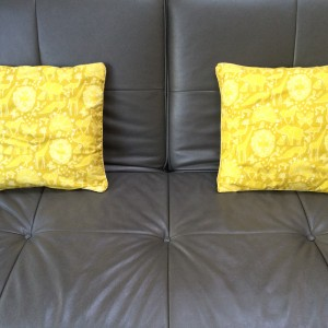 Origami cushion pair